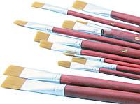 """Кисти синтетические для рисования SAT """"Best pen"""", мягкие, универсальные  12 шт. SQ102616"""