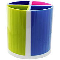 Подставка для ручек 4-х секционная цветная