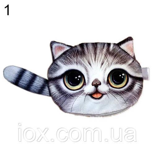 Универсальный кошелек-сумочка в форма милого котика