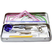 """Набор инструментов для черчения в металическом пенале SAT """"Student max"""" SQ102647"""