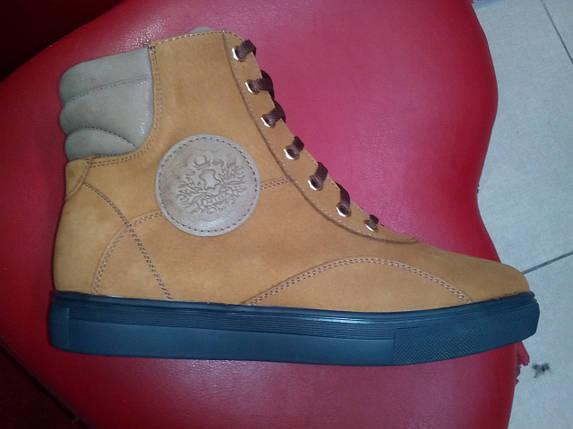 Ботинки женские  МИДА 24558-379 нубук  горчичные, фото 2