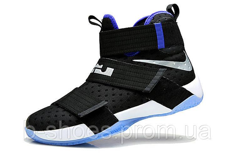 Мужские баскетбольные кроссовки Nike LeBron Zoom Soldier 10 (Black/Blue/White)