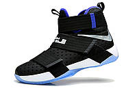 Мужские баскетбольные кроссовки Nike LeBron Zoom Soldier 10 (Black/Blue/White), фото 1