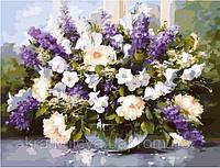 "Картина по номерам ""Весенний букет"" (КН1050, MG1050, MG509), 40х50см., фото 1"