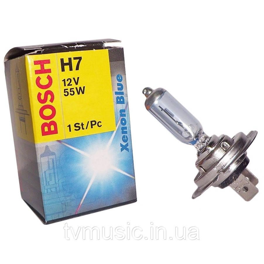 Автомобильная лампа Bosch Xenon Blue H7 12V 55W (1987302075)