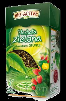 Чай зеленый Big Active с цветами опунции 80g