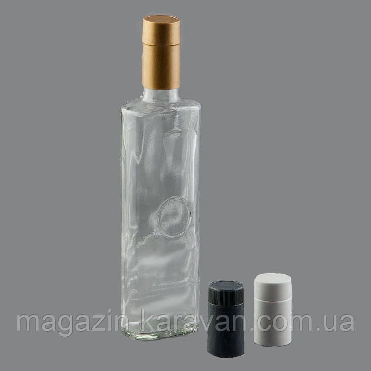 Бутылка стеклянная под водку 0,5 л с крышкой-дозатором