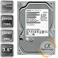 "Жесткий диск 3.5"" 250Gb Hitachi HDS721025CLA682 (8Mb/7200/SATAII) БУ"