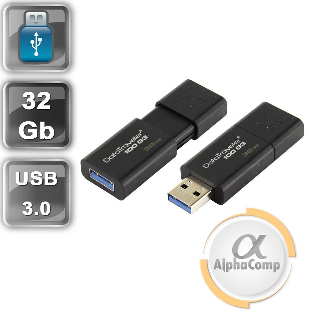 USB Flash 32Gb Kingston DataTraveler 100 G3 USB3.0 (DT100G3/32GB) Black