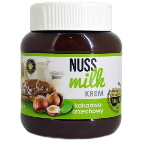 Шоколадная паста Nuss milk krem kakaowo - orzechowy (Нусс милк ореховый вкус) 400 г. Польша