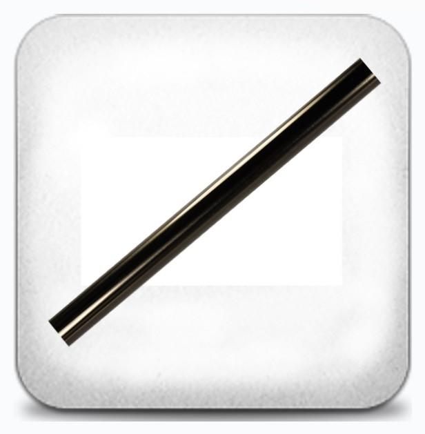 Труба гладкая графит 16мм 3.0м