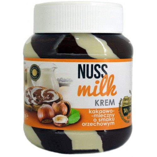 Шоколадная паста Nuss milk kakaowo - mleczny o smaku orzechowym (Нусс милк ореховая полосатая) 400 г. Польша