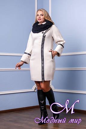 Женское качественное зимнее пальто (р. 46-54) арт. 761 Тон 2080, фото 2