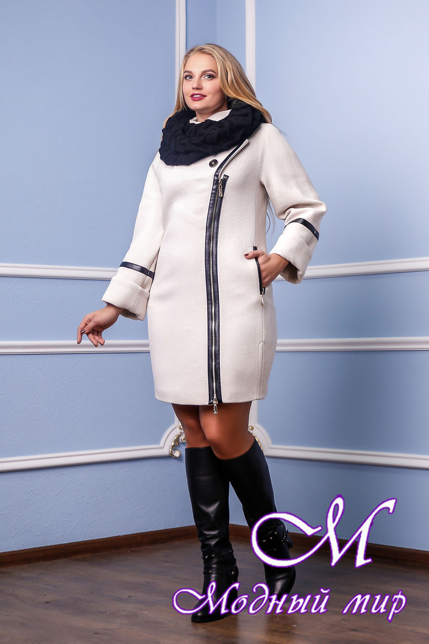 Женское качественное зимнее пальто (р. 46-54) арт. 761 Тон 2080