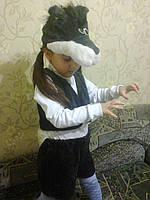 Детский костюм Волка Черный на утренник 98-104-110-116-