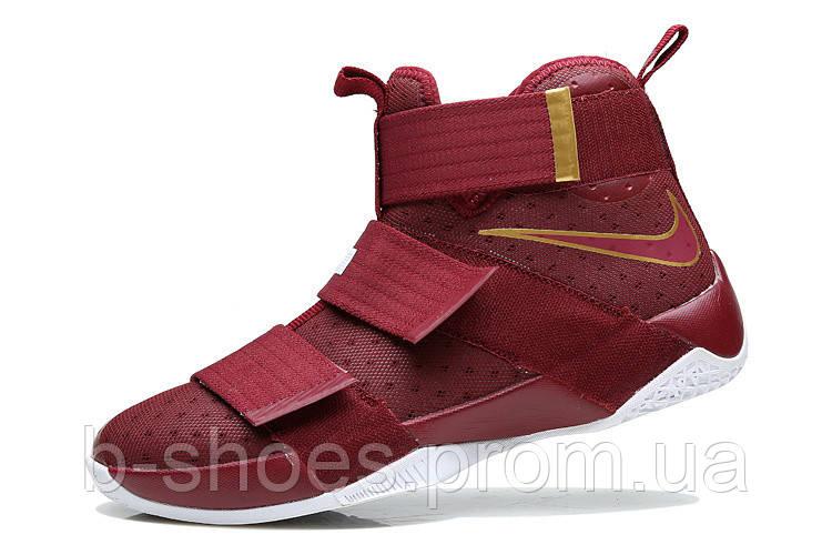 Мужские баскетбольные кроссовки Nike LeBron Zoom Soldier 10 (Vinous)