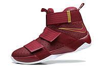 Мужские баскетбольные кроссовки Nike LeBron Zoom Soldier 10 (Vinous), фото 1
