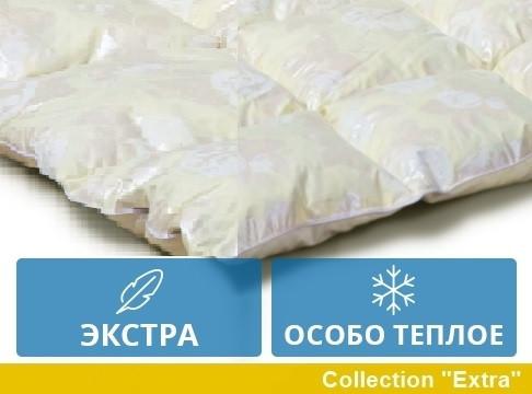 Одеяло полуторное пуховое Зимнее 155x215 гусиный пух Екстра 042.21