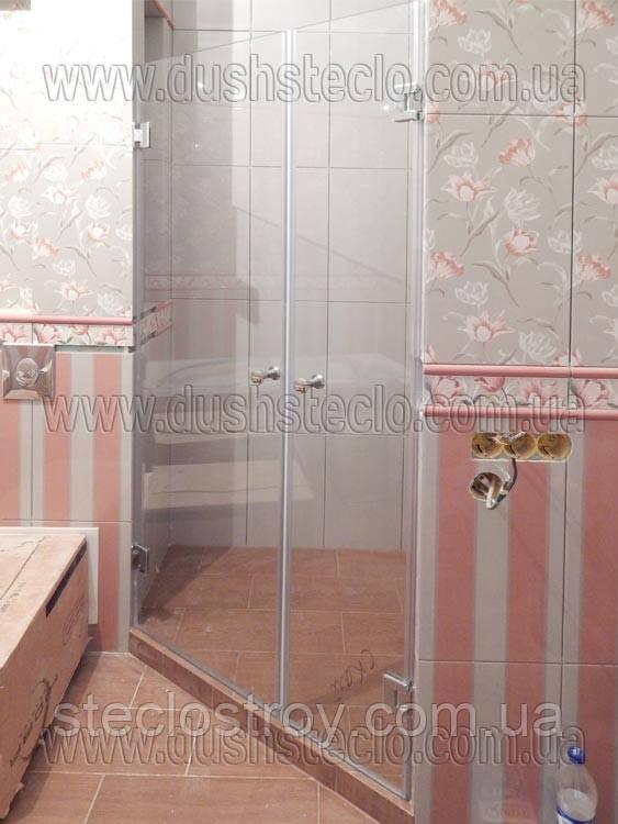 Стеклянные  двери для душа из каленого стекла