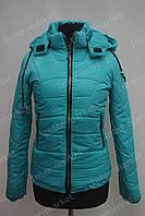 Женская зимняя куртка с капюшоном голубая
