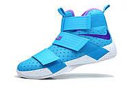 Мужские баскетбольные кроссовки Nike LeBron Zoom Soldier 10 (Light Blue), фото 1