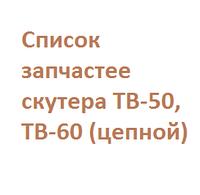 Список запчастей TB-50,60