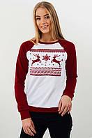 Женский рождественский свитер с оленями, фото 1
