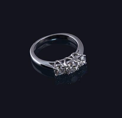 Женское кольцо из белого золота с бриллиантами С28Л1№40