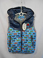 Детская жилетка для мальчика демисезонная (3 - 6 лет.)