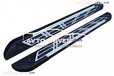 Подножки боковые для Emgrand X7 (в стиле Audi)
