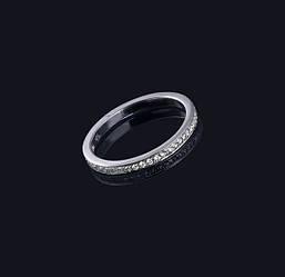 Жіноче кільце з білого золота з діамантами С28Л1№19