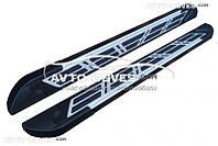 Пороги подножки площадки для Hyundai Santa Fe 2013-2016 (в стиле Audi)