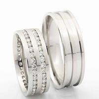 Обручальные кольца. Брильянты. Золото., фото 1