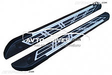Подножки боковые для Renault Logan MCV (в стиле Audi)