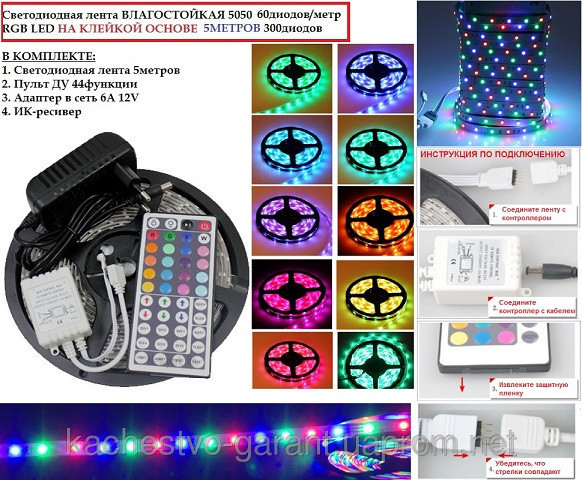 Светодиодная гирлянда дюралайт LED SMD 5050, 5 м. - Led подсветка витрин