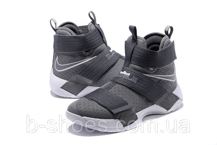 Мужские баскетбольные кроссовки Nike LeBron Zoom Soldier 10 (Grey)