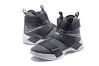 Мужские баскетбольные кроссовки Nike LeBron Zoom Soldier 10 (Grey), фото 1