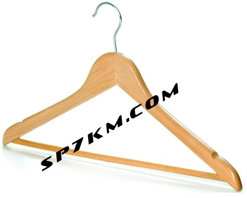 Плечики-вешалка деревянная, универсальная