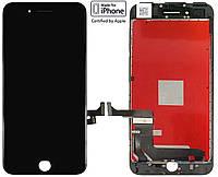 Дисплейный модуль (дисплей + сенсор) для iPhone 7, черный, оригинал (orig)