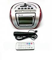 Портативная колонка, бумбокс радиоприемник караоке часы MP3 Golon RX 656Q