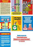 """Электробезопасность. Плакаты и знаки безопасности"" (7 плакатов, ф. А3)"