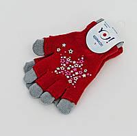 Перчатки для девочек 16см (5-8лет)