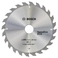 Циркулярный диск 190x30/24x24 Bosch Speedline ECO 2608641780