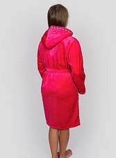 Махровий жіночий халат з ромбами на кишенях, фото 3