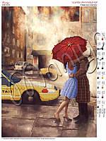 Схема для вышивания бисером Пара под зонтом