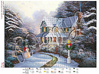Схема для вышивания бисером Зимняя сказка в лесу