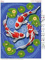 Схема для вышивания бисером Карпы кои
