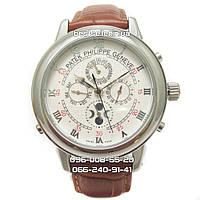 Часы Patek Philippe Sky Moon silver/white/brown. Класс: ААА.