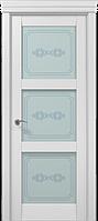 """Двери межкомнатные Папа Карло """"Milenium ML-07 бевелс"""" ясень белый"""
