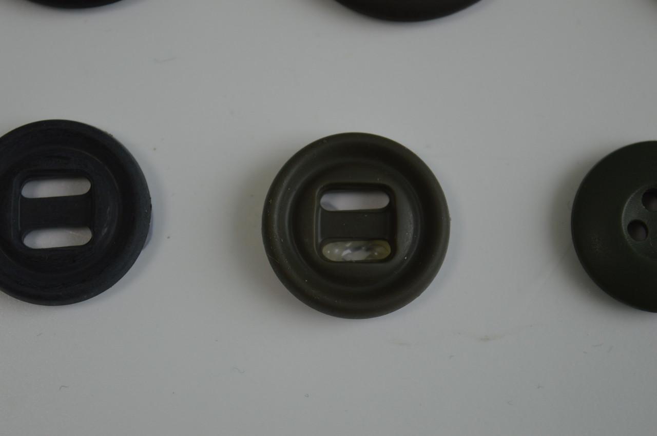 Колір хакі ґудзик пришивная термостійка діаметр 2см